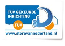 Logo TÜV gekeurde inrichting
